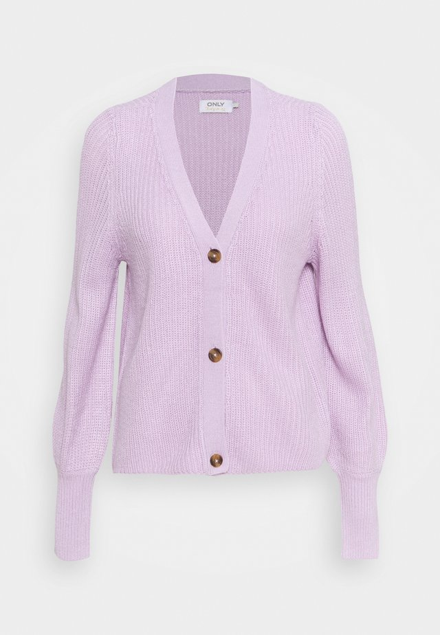 ONLNICOYA CLARE CARDIGAN - Neuletakki - lavender frost