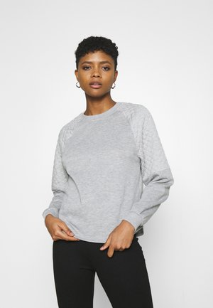 JDYNAPA RAGLAN - Sweatshirt - light grey melange