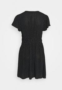 Cotton On - MARISSA GATHERED FRONTMINI DRESS - Kjole - tiffany black - 1