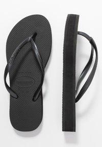 Havaianas - SLIM FLATFORM - Pool shoes - black - 3