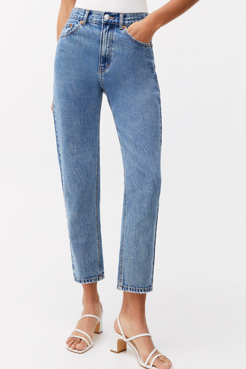 PULL&BEAR - MOM - Relaxed fit jeans - light blue