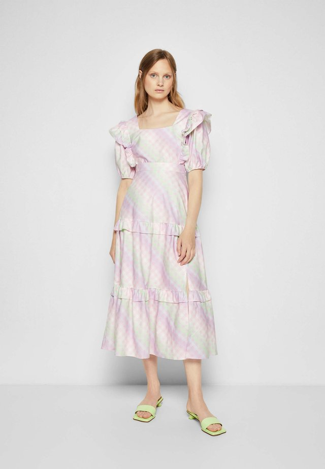 LUCINDA - Maxi sukně - ombre gingham