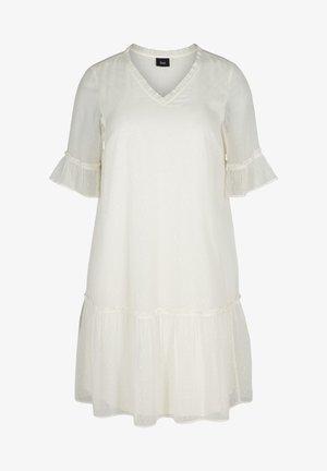 MIT RÜSCHEN  - Day dress - beige