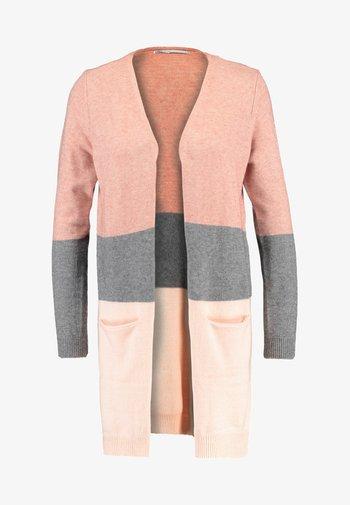 ONLQUEEN LONG CARDIGAN - Cardigan - misty rose/mottled grey melange/cloud pink melange
