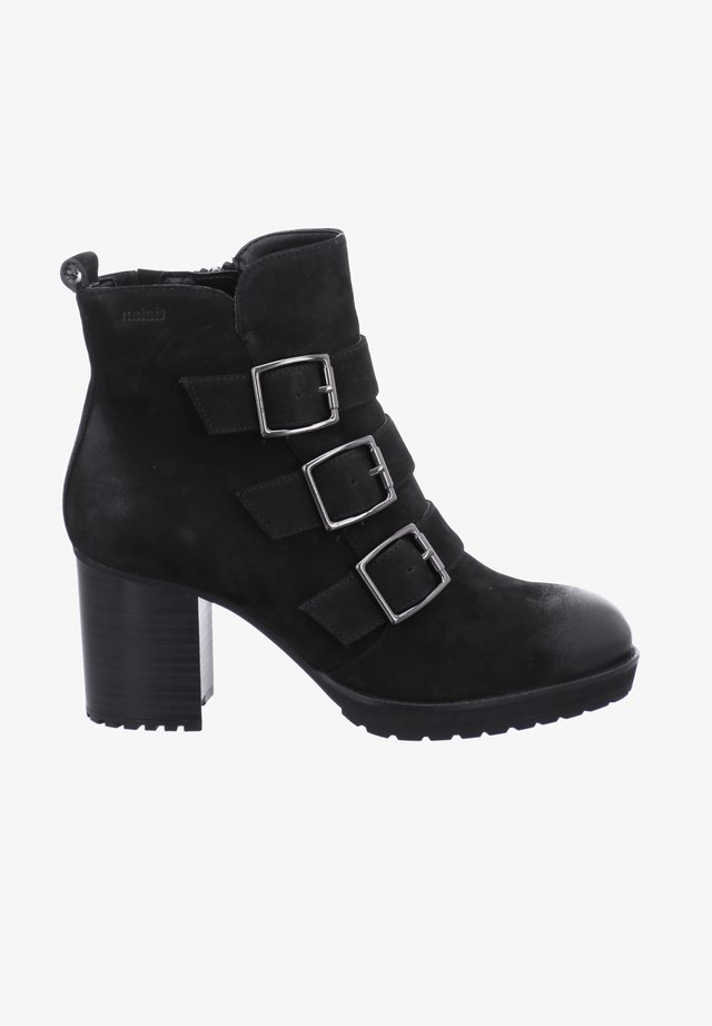 MAURITIUS - High heeled ankle boots - schwarz