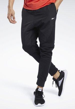 KNIT-WOVEN JOGGERS - Spodnie treningowe - black