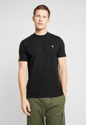 TAPED T-SHIRT - T-shirt - bas - true black