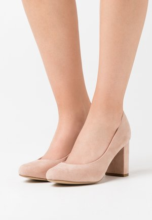 WIDE FIT REEMA BLOCK - Zapatos altos - oatmeal