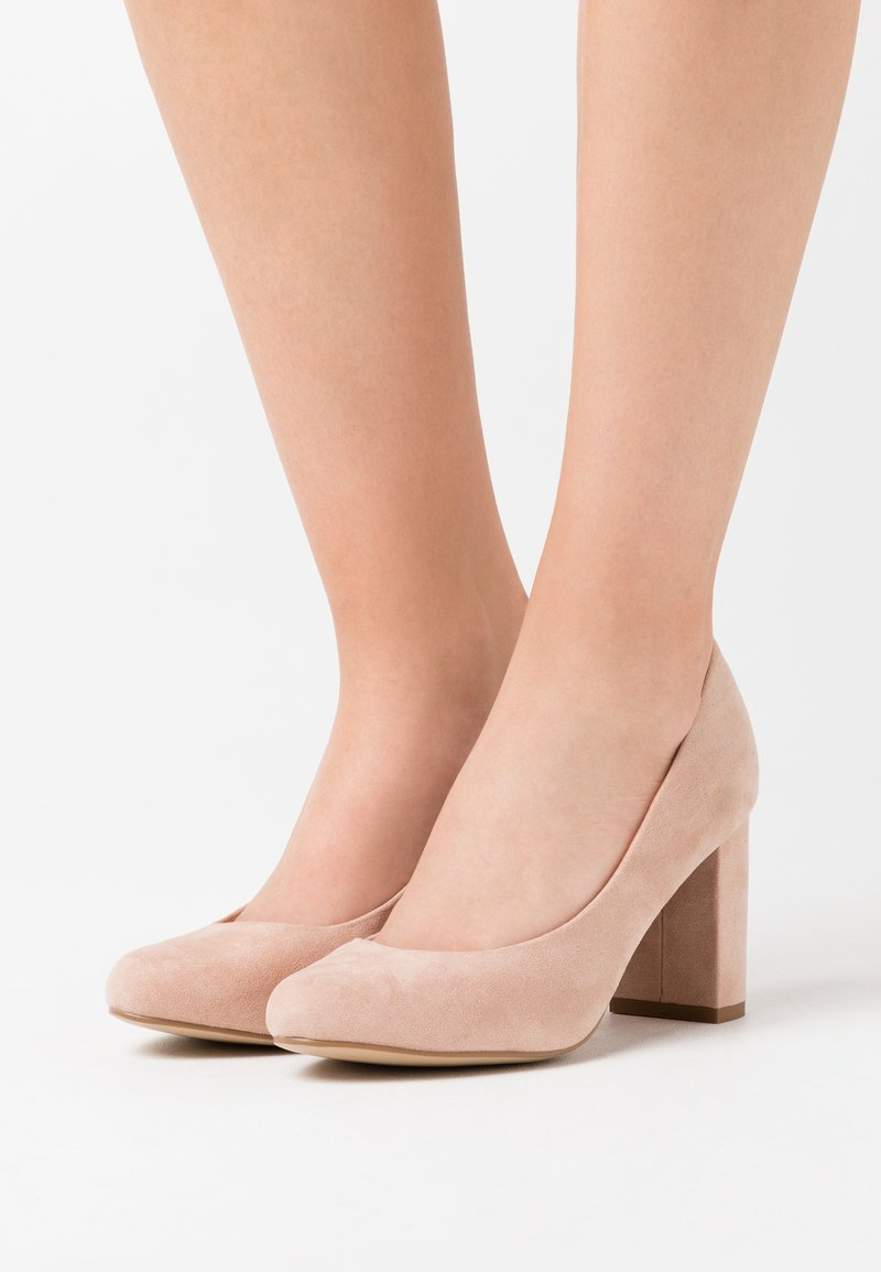 New Look Wide Fit - WIDE FIT REEMA BLOCK - High heels - oatmeal