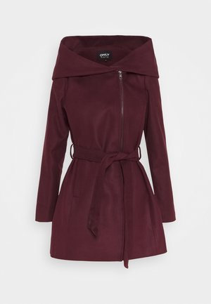 ONLCANE COAT - Krátký kabát - bordeaux