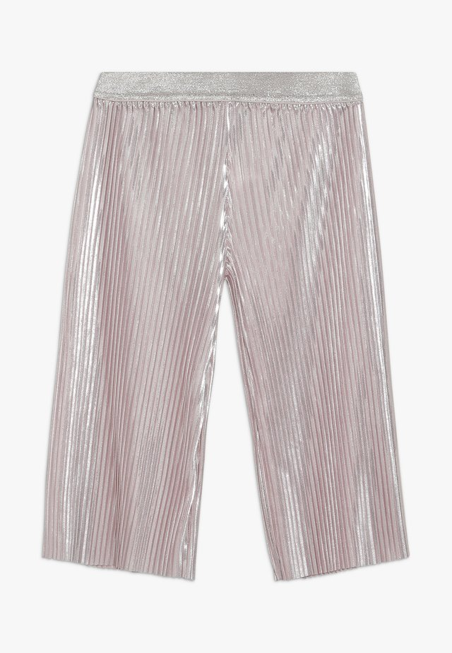 SHINY PLEATED TROUSERS - Pantalones - pink pale