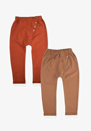 2 PACK  - Tracksuit bottoms - dark red