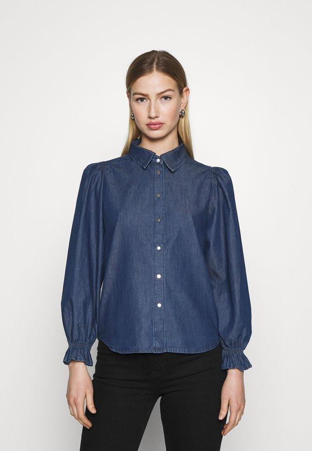 ONLFIFI - Button-down blouse - dark blue denim