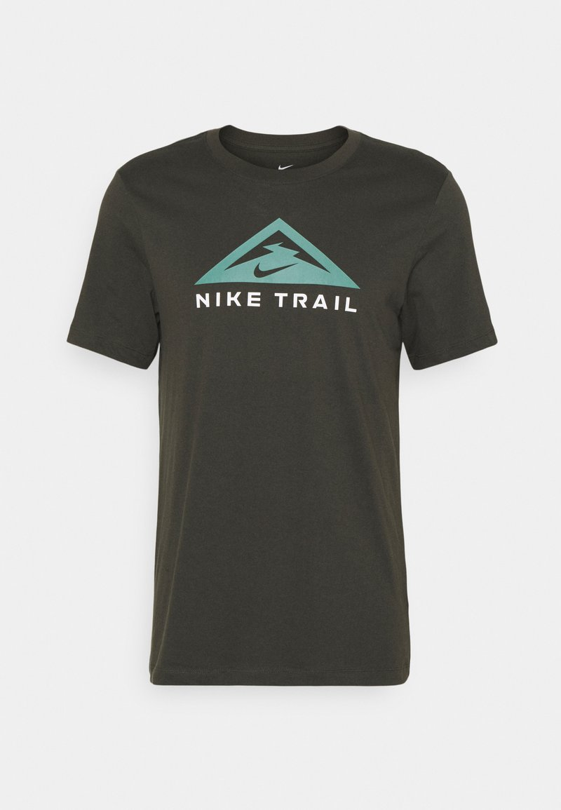 Nike Performance - TEE TRAIL - T-shirt print - sequoia