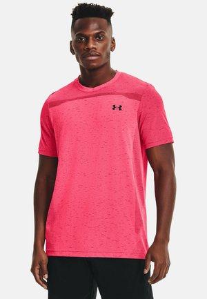 SEAMLESS SS - Print T-shirt - pink shock