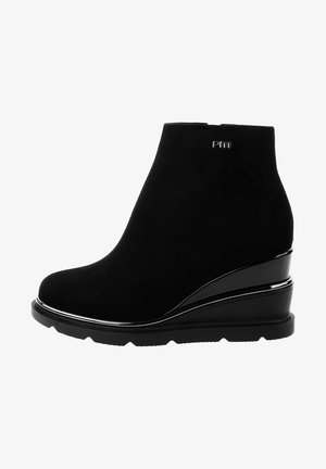 SCALETTA - Wedge Ankle Boots - black