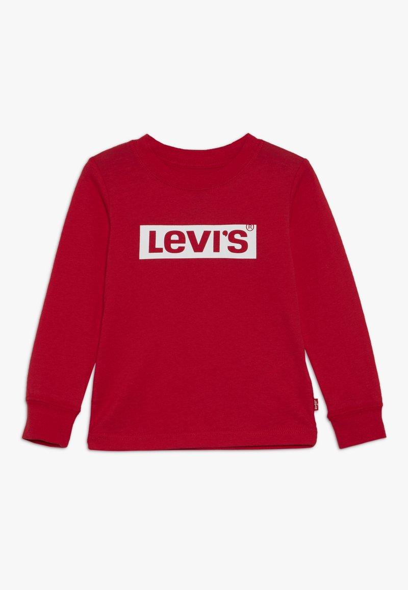 Levi's® - BOX TAB TEE - Top sdlouhým rukávem - super red