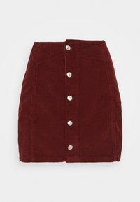 BUTTON DOWN SKIRT - Minifalda - rust