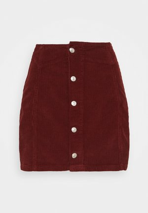 BUTTON DOWN SKIRT - Mini skirt - rust