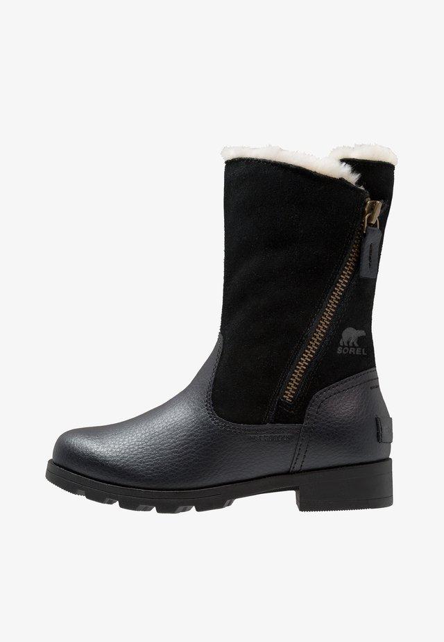 EMELIE FOLD-OVER - Bottes de neige - black