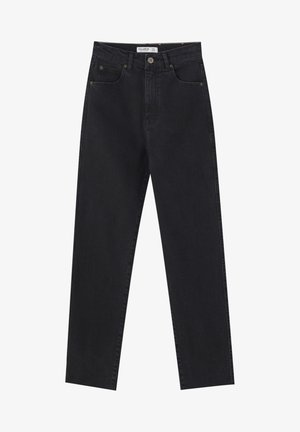 SLIM MOM - Slim fit jeans - black