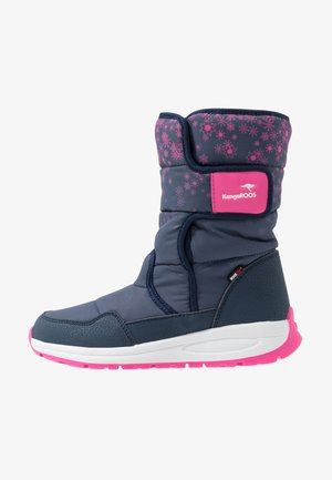 K-FLUFF RTX - Winter boots - dark navy/daisy pink