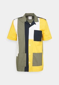 BRANDON - Shirt - green/color block