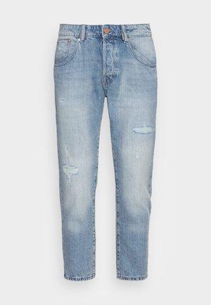 JJIFRANK JJLEEN - Slim fit jeans - blue denim