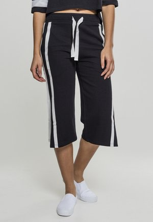 LADIES TAPED TERRY CULOTTE - Tracksuit bottoms - black/white