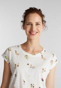 Esprit - T-shirt z nadrukiem - off white - 4
