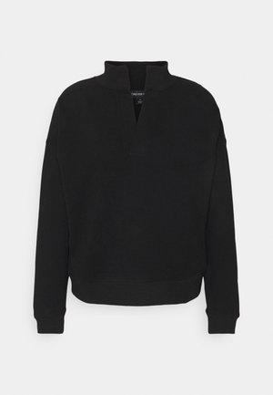 COLLAR LOUNGEWEAR JUMPER - Sweatshirt - black