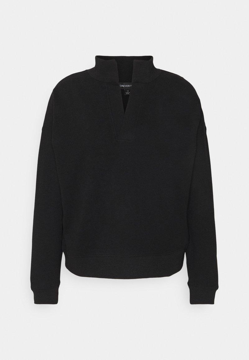 Forever New - COLLAR LOUNGEWEAR JUMPER - Sweatshirt - black