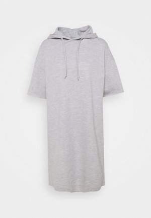 ONLDREAMER HOOD DRESS - Kjole - light grey melange