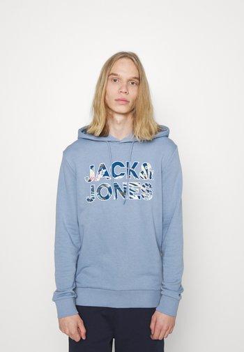 JJFLEUR HOOD - Sweatshirt - faded denim
