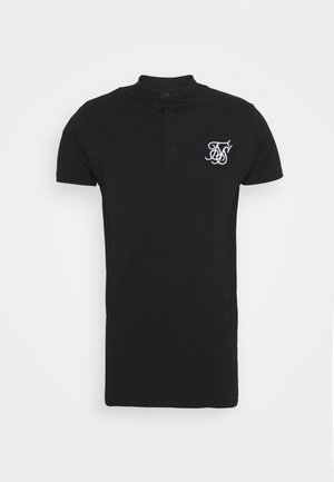 GRANDAD COLLAR - Polo - black