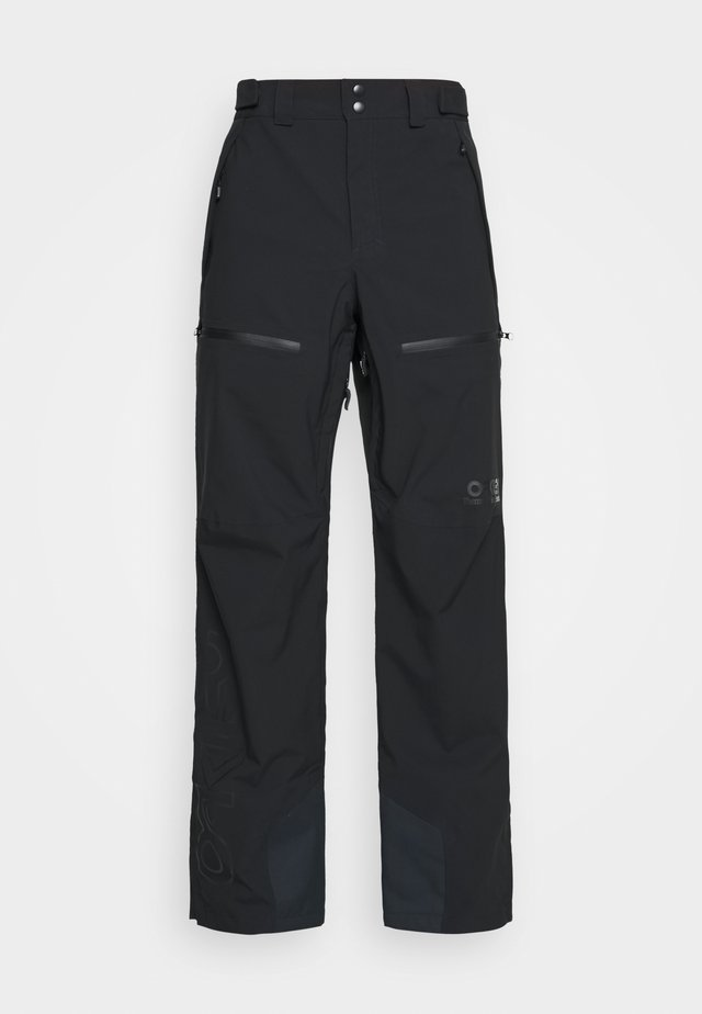 LINED SHELL PANT - Snow pants - blackout