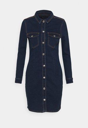 PCSILIA DRESS - Spijkerjurk - dark blue denim
