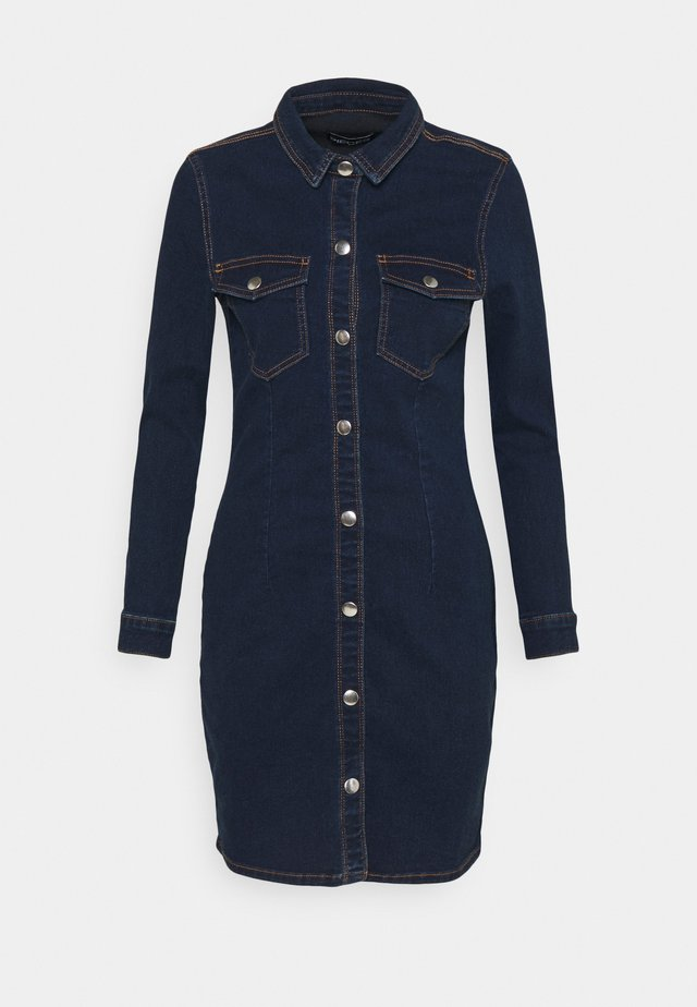 PCSILIA DRESS - Robe en jean - dark blue denim