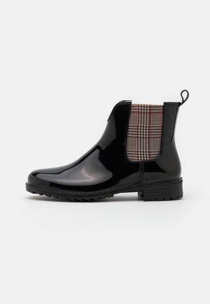 Stivali di gomma - schwarz/beige