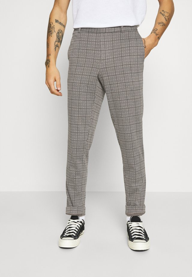 ONSELIAS CHECK  PANTS - Trousers - beige