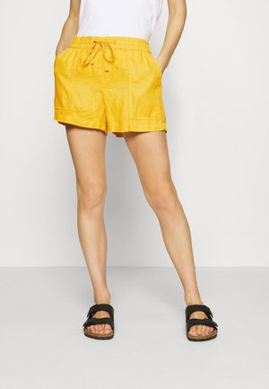 PULL ON UTILITY SOLID - Shorts - lemon curry