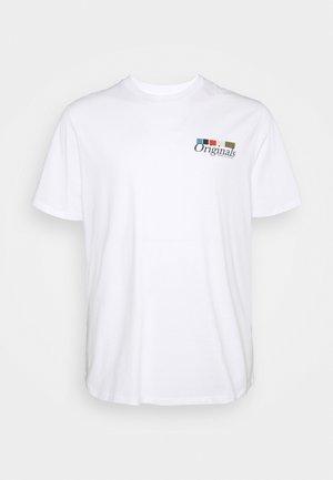 JORCLAY TEE CREW NECK  - T-shirt con stampa - bright white