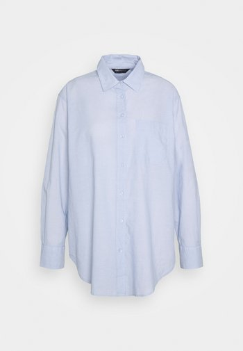VOILE SHIRT - Button-down blouse - blue