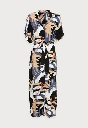 DRESS KAFTAN MAXI PRINTED - Długa sukienka - sand blue palms design
