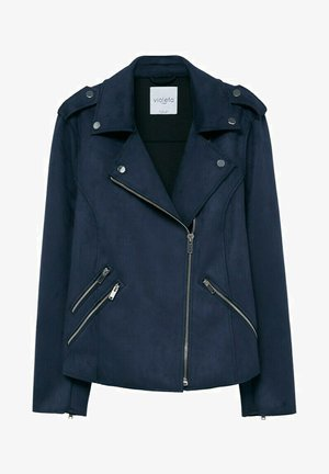 SEUL8 - Faux leather jacket - bleu marine