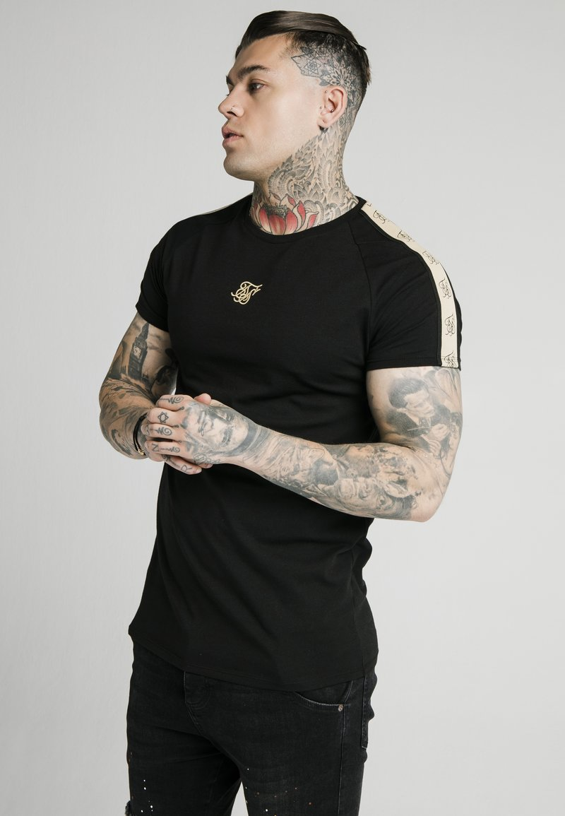 SIKSILK - Print T-shirt - black