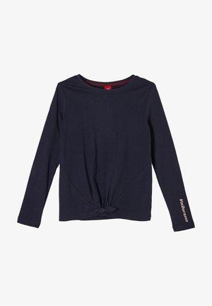 MIT KNOTEN-DETAIL - Long sleeved top - blue