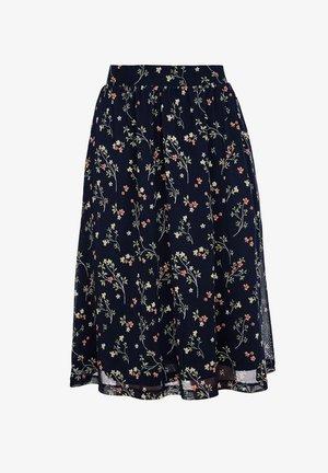 A-line skirt - navy floral print