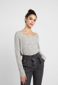 ONLY - ONLHANNA MAYE V NECK - Trui - light grey - 0