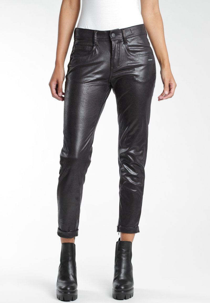 Gang - RELAXED FIT - Trousers - black